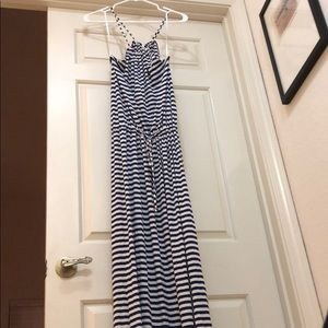 Stripped maxi dress